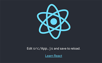 Create React App launch page