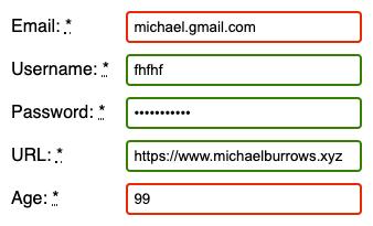 HTML form validation