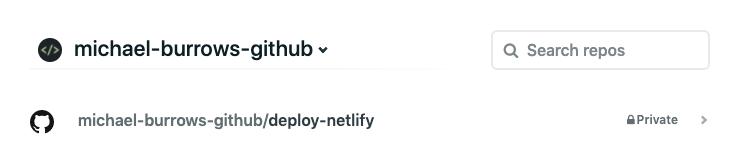 Netlify GitHub repos