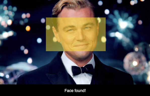Face recognition using JavaScript example