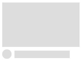 Example skeleton loading screen